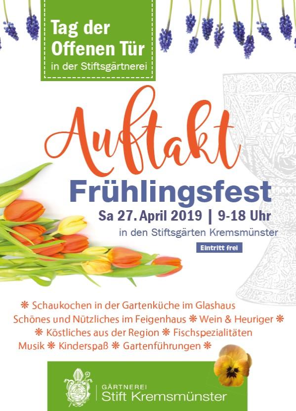 Einladung Frühlingsfest Kremsmünster